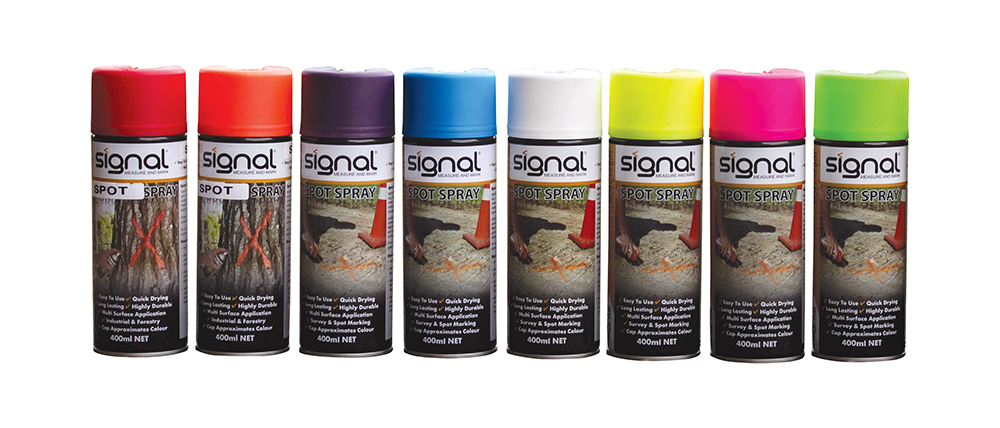 cans of signal spray paint